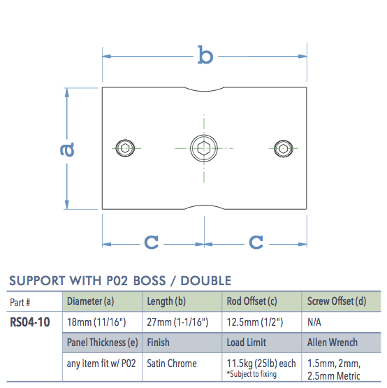 Specifications for RS04-10