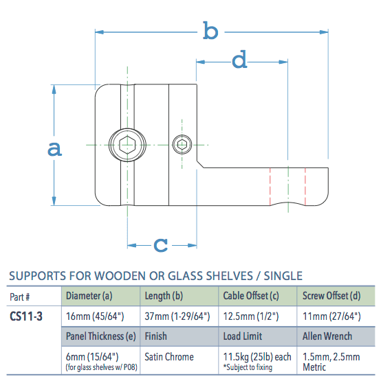Specifications for CS11-3