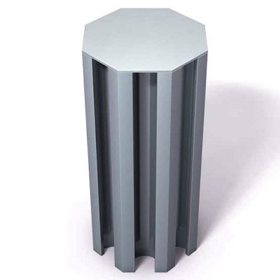 370-111-Aluminum-End-Cap