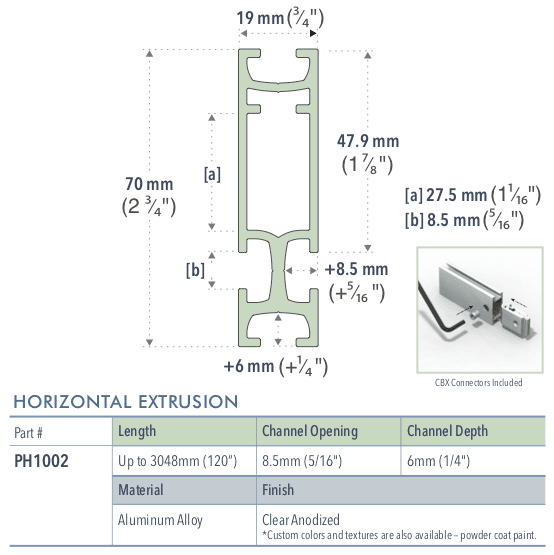 Specifications for PH1002/-/L/C