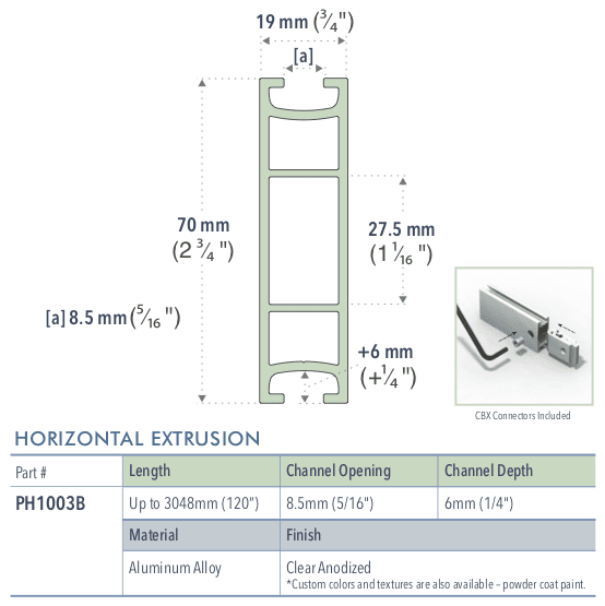 Specifications for PH1003B/-/L/C