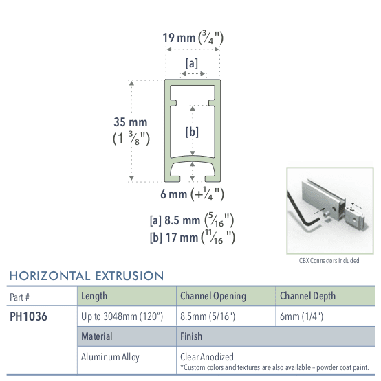 Specifications for PH1036/72/L