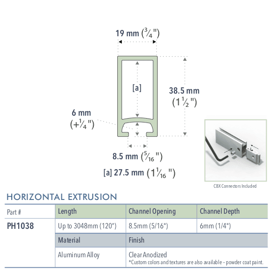 Specifications for PH1038/72/L