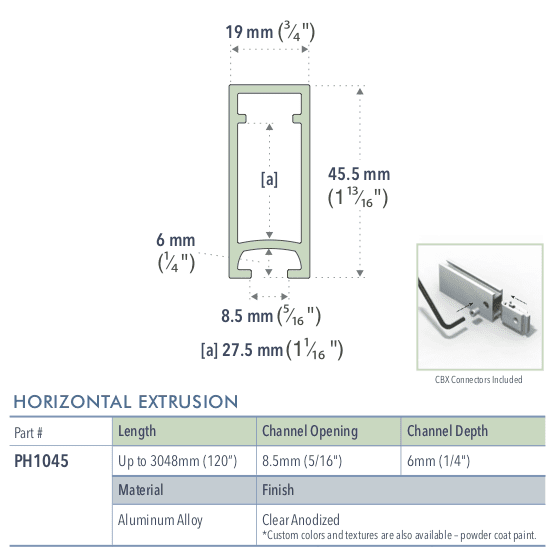 Specifications for PH1045/72/L