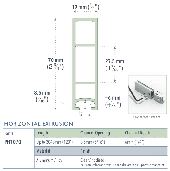 Specifications for PH1070/-/L/C