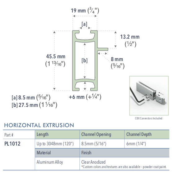 Specifications for PL1012/-/L/C