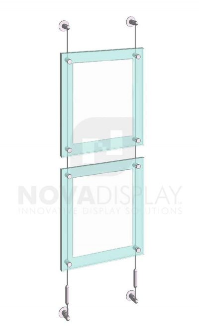 KASP-150 Sandwich Acrylic Poster Display Kit cable wall suspended
