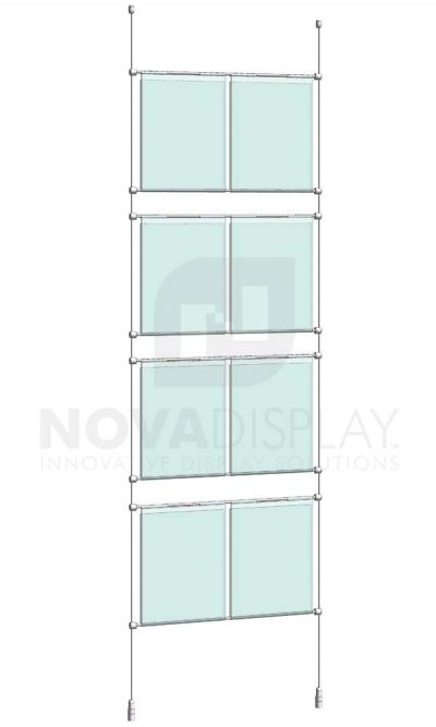 KHPI-003_Hook-on-Poster-Holder-Display-Kit-cable-suspended-hooked-on-horizontal-rods