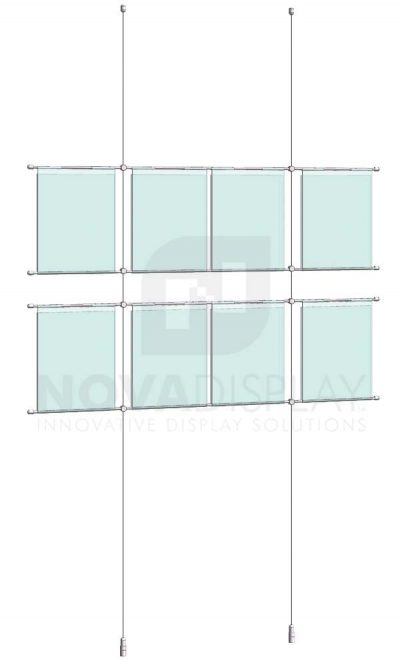KHPI-004_Hook-on-Poster-Holder-Display-Kit-cable-suspended-hooked-on-horizontal-rods