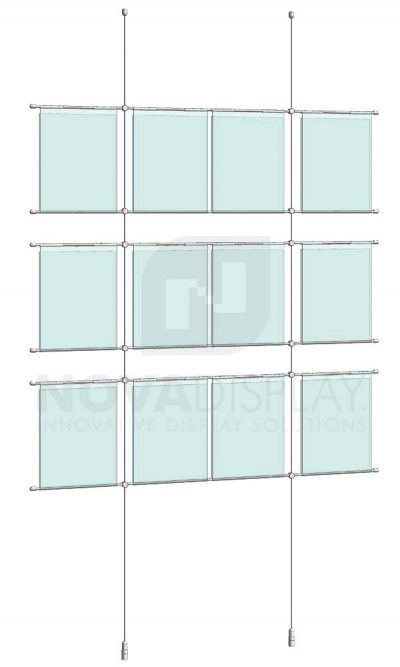 KHPI-005_Hook-on-Poster-Holder-Display-Kit-cable-suspended-hooked-on-horizontal-rods