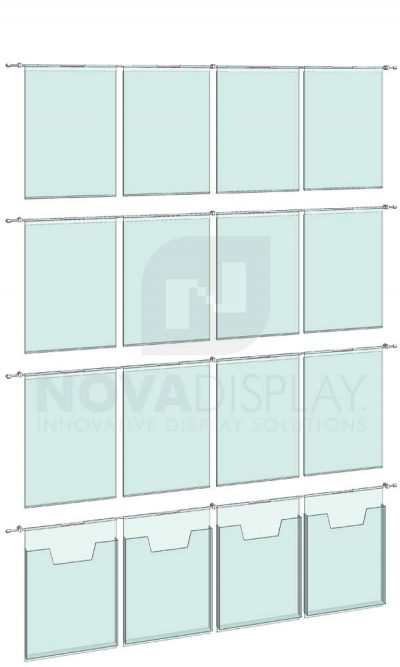 KHPI-017_Hook-on-Poster-Literature-Holder-Display-Kit-wall-mounted-on-horizontal-rods