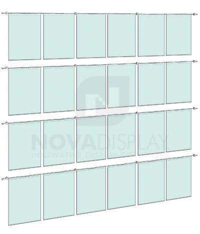 KHPI-021_Hook-on-Poster-Holder-Display-Kit-wall-mounted-on-horizontal-rods
