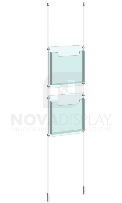 KLD-001_Acrylic-Literature-Display-Kit-cable-suspended