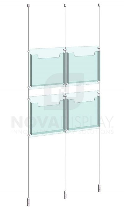 KLD-002_Acrylic-Literature-Display-Kit-cable-suspended