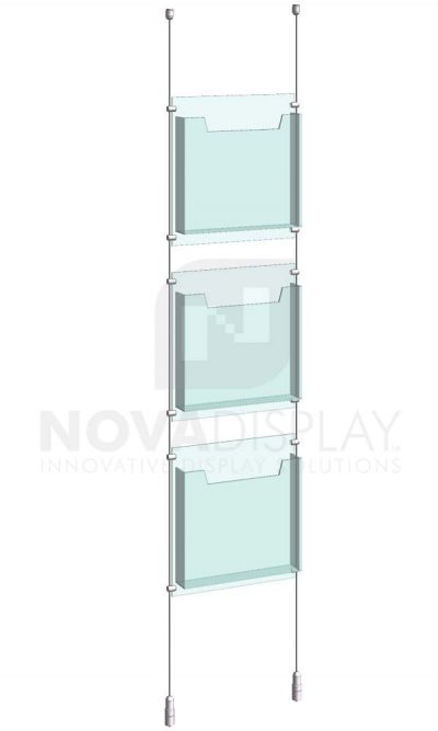 KLD-004_Acrylic-Literature-Display-Kit-cable-suspended