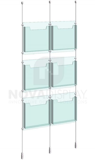 KLD-005_Acrylic-Literature-Display-Kit-cable-suspended