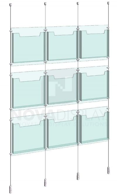 KLD-006_Acrylic-Literature-Display-Kit-cable-suspended