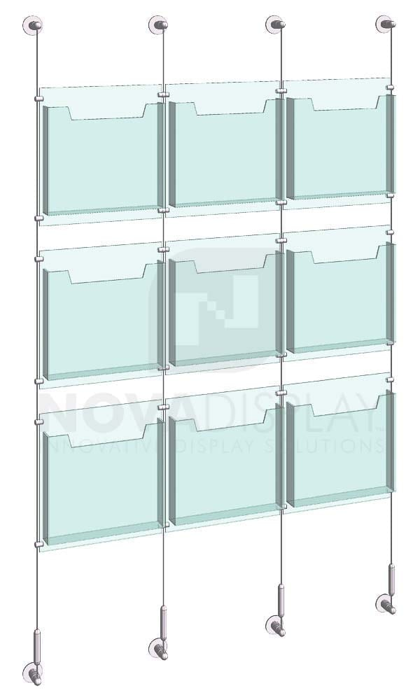 KLD-012_Acrylic-Literature-Display-Kit-wall-cable-suspended