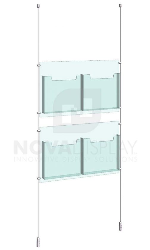 KLD-015_Acrylic-Literature-Display-Kit-cable-suspended