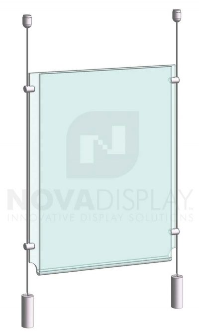 KPI-004_Easy-Access-Poster-Holder-Display-Kit-cable-suspended-with-bottom-weights