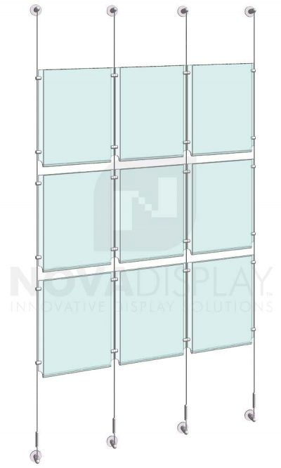 KPI-113_Easy-Access-Poster-Holder-Display-Kit-cable-suspended