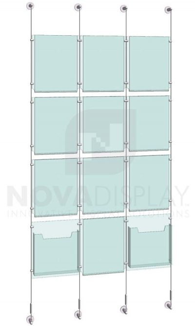 KPI-116_Easy-Access-Poster-Holder-Display-Kit-cable-suspended