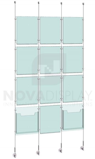 KPI-117_Easy-Access-Poster-Holder-Display-Kit-cable-suspended