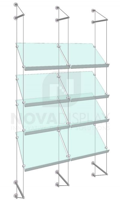 KSP-012_Acrylic-Sloped-Shelf-Display-Kit-wall-cable-suspended