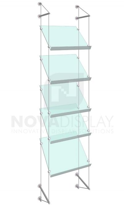 KSP-013_Acrylic-Sloped-Shelf-Display-Kit-wall-cable-suspended