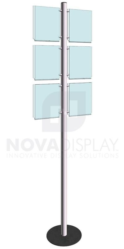 KFIP-001-Info-Post-Floor-Stand-Display-Kit