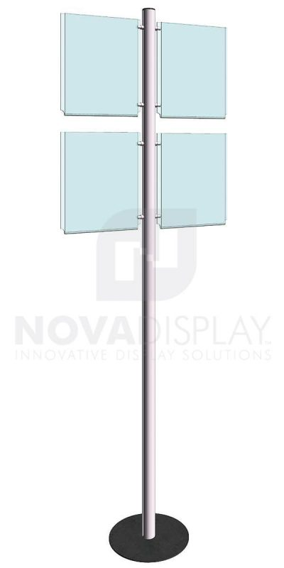 KFIP-003-Info-Post-Floor-Stand-Display-Kit