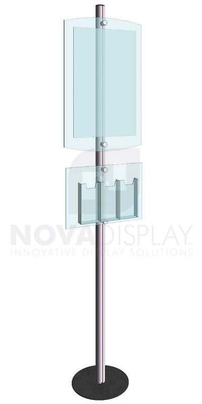 KFIP-011-Info-Post-Floor-Stand-Display-Kit