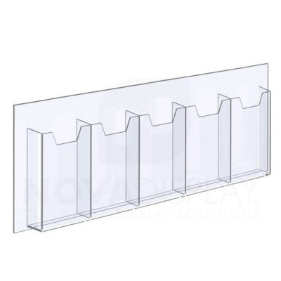 14ALD-5-3585P-23 1/8″ Clear Acrylic Leaflet Dispenser / Literature Holder – Five Pocket