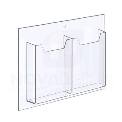14ALD-8-5585P-IP 1/8″ Clear Acrylic Leaflet Dispenser / Literature Holder – Double Pocket