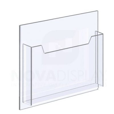 14ALD-8511L-12>15 1/8″ Clear Acrylic Leaflet Dispenser / Literature Holder – Single Pocket / Landscape