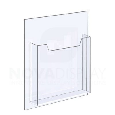 14ALD-8511L-ST 1/8″ Clear Acrylic Leaflet Dispenser / Literature Holder – Single Pocket / Portrait