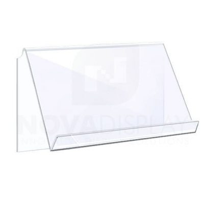 Angled Acrylic Shelf for cable-rod suspensions