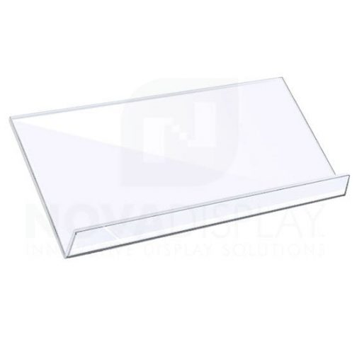 Sloping Acrylic Shelf for cable-rod suspensions