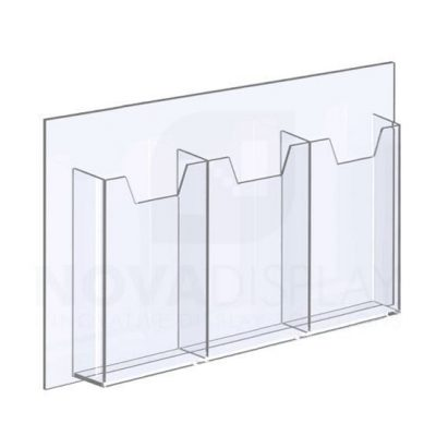18ALD-3-3585P-17 1/8″ Clear Acrylic Leaflet Dispenser / Literature Holder – Treble Pocket