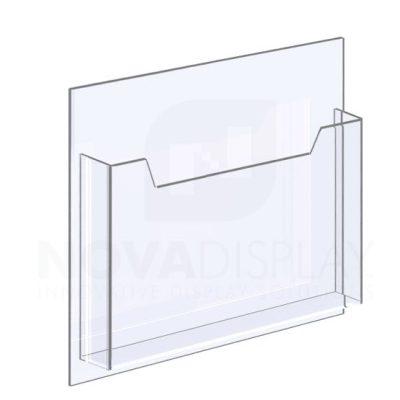 18ALD-8511L-12>13 1/8″ Clear Acrylic Leaflet Dispenser / Literature Holder – Single Pocket / Landscape
