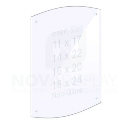 18ASP-2CR-PANEL-NG-M4 1/8″ Non-Glare Acrylic Arched Panel with Holes for M4 Studs – Polished Edges