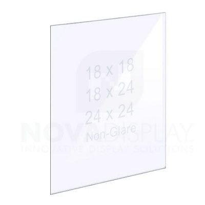 1/8″ Non-Glare (Anti-Reflective) Acrylic Panel without Holes – Polished Edges.