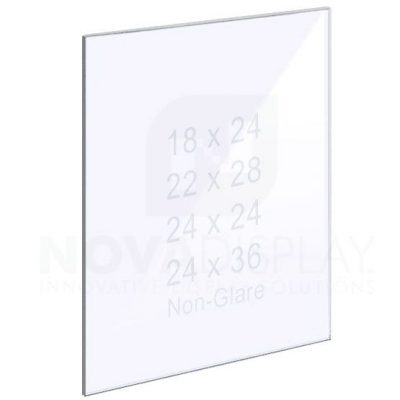 18ASP-PANEL-NG-LR 1/8″ Non-Glare Acrylic Panel without Holes – Polished Edges
