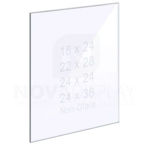 18ASP-PANEL-NG-LR 1/8″ Non-Glare Acrylic Panel without Holes – Polished Edges