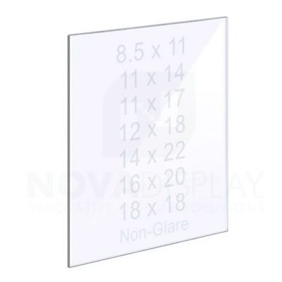 18ASP-PANEL-NG-MD 1/8″ Clear Acrylic Panel without Holes – Polished Edges
