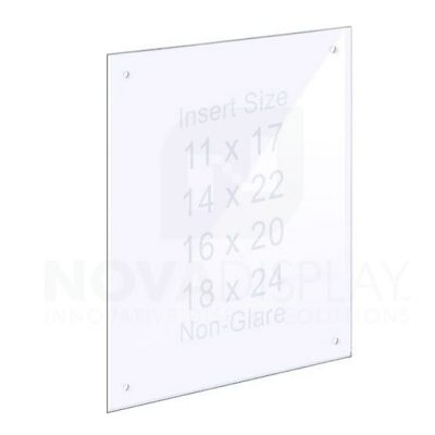 14ASP-W-PANEL-M4 1/4″ Clear Acrylic Panel with Holes for M4 Studs – Polished Edges