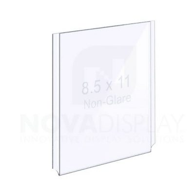 18EAAP-8511P-NG Non-Glare (Anti-Reflective) Easy Access Acrylic Pocket / Poster Holder – Portrait