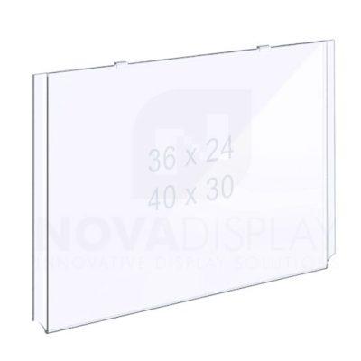 18EAAP-INSERT-LANDSCAPE-XL Easy Access Acrylic Pocket / Poster Holder – Extra-Large Landscape