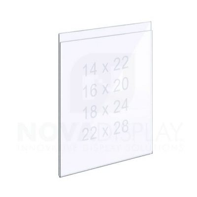 Top Suspended Easy Access Acrylic Pocket / Poster Holder
