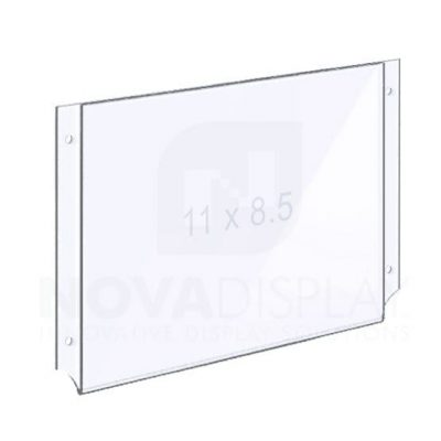 Easy Access Acrylic Pocket / Poster Holder with Holes for M4 Studs – Landscape